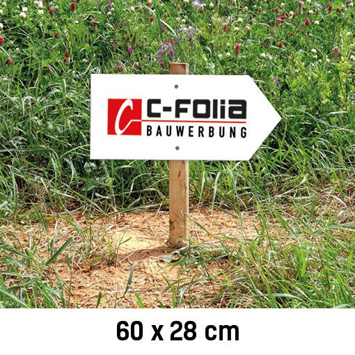 C-Bauwerbung Baustellenwegweiser rechts 60x28cm
