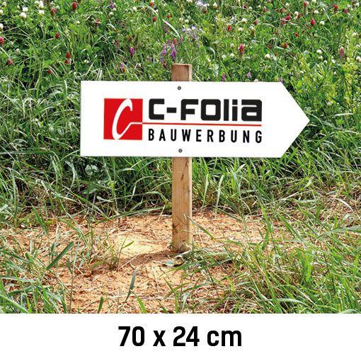 C-Bauwerbung Baustellenwegweiser rechts 70x24cm